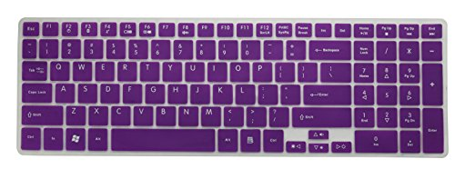 Avigator Translucent Purple Ultra Deficient Silicone Keyboard Protector Skin Cap for Silicone Keyboard Protector Skin Coat for Acer Aspire 5251, 5253, 5250, 5336, 5349, 5560, 5560G, 5552, 5552G, 5741, 5742, 5742Z, 5745, 5745G, 5740, 5750, 5750G, 5750Z, 57
