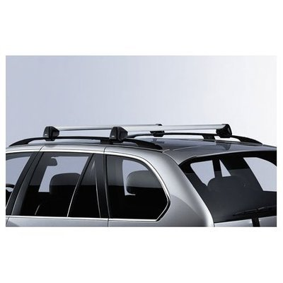 BMW X5 E53 Genuine Factory OEM 82710415053 Profile Roof Rack Cross Bars 2001 - 2006-Thule Cargo Box For Sale