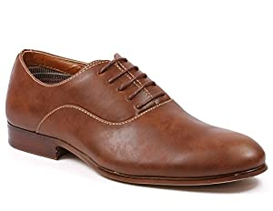 Ferro Aldo MFA-139255 Brown Mens Lace Up Oxford Dress Shoes w/ Leather Lining (9.5)