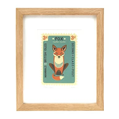 Tom Frost Fox Stamp Print (Ltd Edition Framed Print)