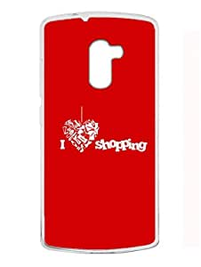 Madanyu I Love Shopping - 2D Glossy Back Case Cover For Lenovo K4 Note - Transparent Sides