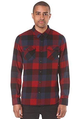 Camicia A Maniche Lunghe Vans Box Flannel Rosso Dhalia-Nero (Xl , Rosso)