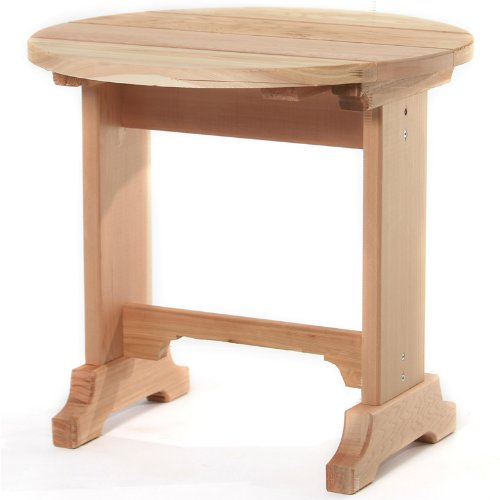 Western Red Cedar Adirondack Side Table - Round Side Table - Patio and Garden Furniture