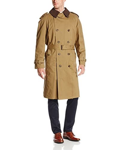 Hart Schaffner Marx Men's Evanston Double-Breasted Belted Trench Coat