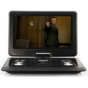 14 inch Portable DVD Player Game USB TV SD SWIVEL & Flip VAG LCD Screen 1589