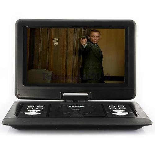 14 inch Portable DVD Player Game USB TV SD SWIVEL & Flip VAG LCD Screen 1589