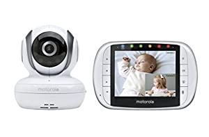 motorola mbp36s remote wireless video baby monitor with 3 5 inch color lcd screen. Black Bedroom Furniture Sets. Home Design Ideas
