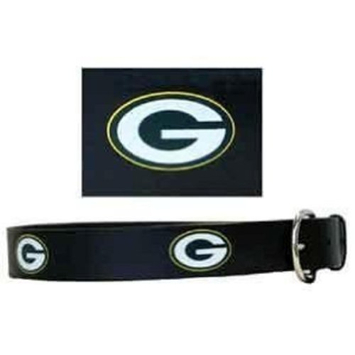 "36"" Green Bay Packers Embossed Leather Belt"