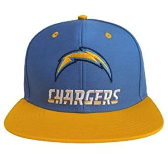 San Diego Chargers Retro Name & Logo Snapback Cap Hat Blue Yellow