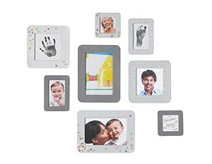 Baby Art Sticker Frames - Set de 8 marcos para fotos y huellas de mano o pie de Dorel