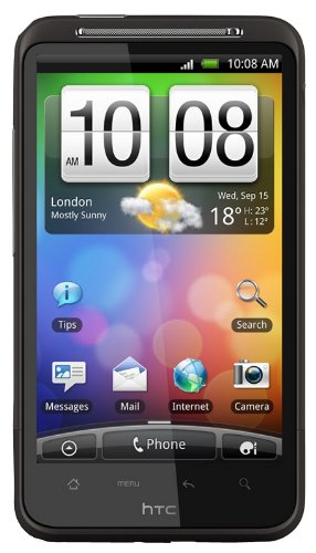 Htc Desire Hd A9191 Unlocked Gsm Android Smartphone With 8 Mp Camera, Wi-Fi, Gps, Touchscreen--International Version With No Warranty (Black)