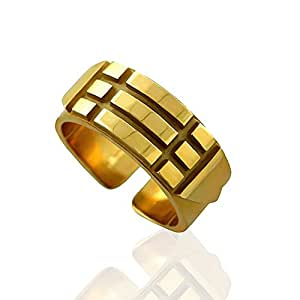 WatFile.com Download Free Yellow Gold Atlantis Solid Amulet Talisman Ring 6 2mm Wide: Jewelry