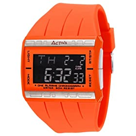 Activa Women's Orange Multi-function Digital Watch #AD034-007