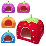 Strawberry Pet igloo bed / House 3 si...