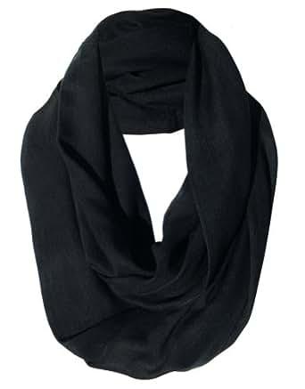 Infinity Scarf - Black Semi Sheer Designer Circle Scarves for Women or Men
