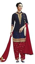 WIN13 1 Blue Colour unstitched cotton Salwar Suit