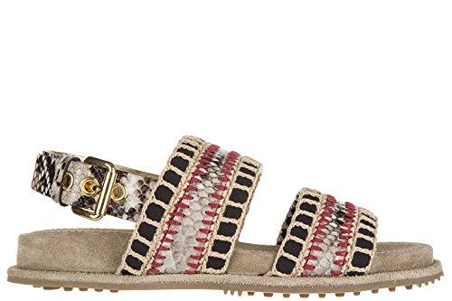 Car Shoe sandali donna originale pitone beige EU 36.5 KDX95L 3A4U F0187