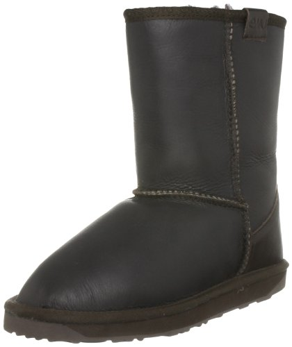 Emu Australia Women's Stinger Lo Leather Chocolate Mid Calf Boots W10132 7 UK, 40/41 EU, 9 US