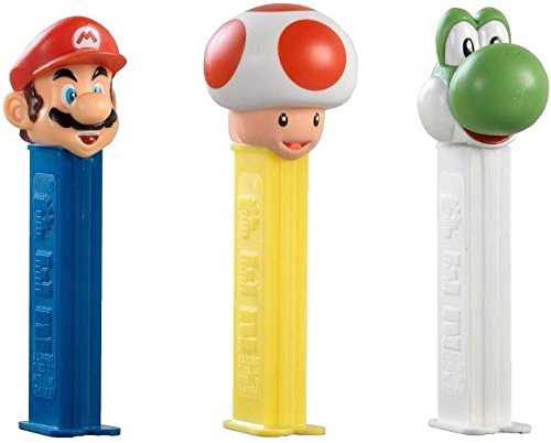 super-mario-pez-dispenser-with-two-refils-sold-singly-one-random-character-supplied
