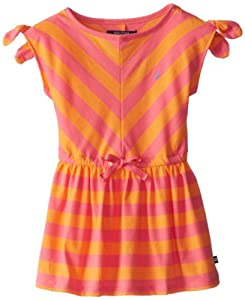 Nautica Girls 2-6X Stripe Dress with Shoulder Knot by Nautica