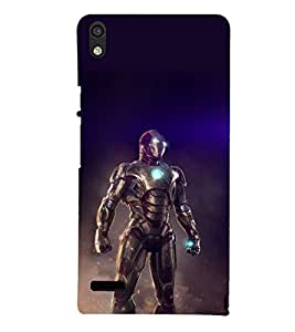 printtech Iron Suit Tesla Core Back Case Cover for Huawei Acend P6