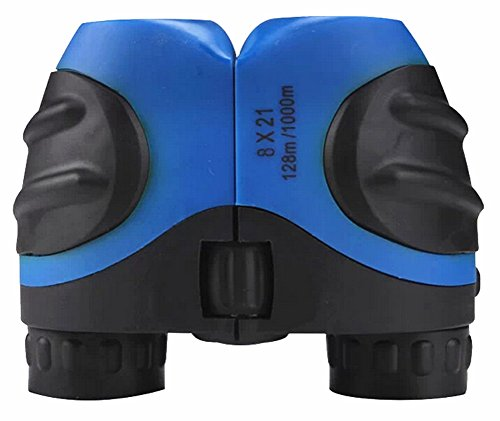TOMO 8 X 21 High Powered Children Mini Blue Binoculars