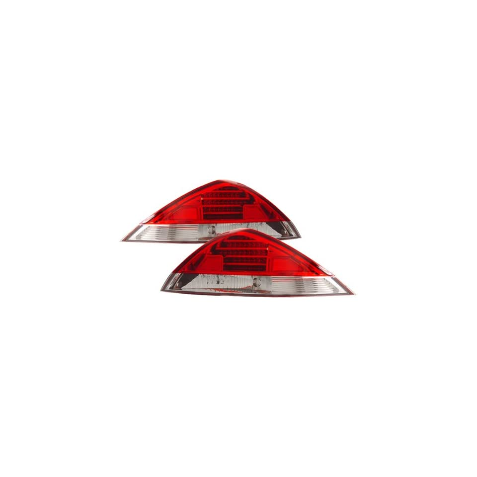 Honda Accord Coupe Red/Clear LED Tail Lights
