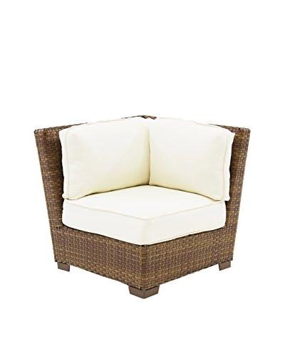 Panama Jack St Barths Modular Corner Chair With Cushion, Brown