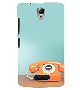 Printvisa Premium Back Cover Vintage Orange Phone Time Design For Lenovo A2010