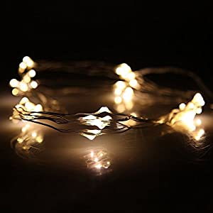 (9 Different Colors) DBPOWER LED Led String Lights Copper Wire LED Starry Light for Outdoor Indoor decoration, Gardens, Christmas, Homes, Wedding and Party by DBPOWER