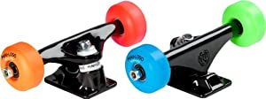 Mini-Logo Skateboards ML Bearings 52mm 101A Assorted Color Wheels Truck Assembly, Black, 8.38-Inch