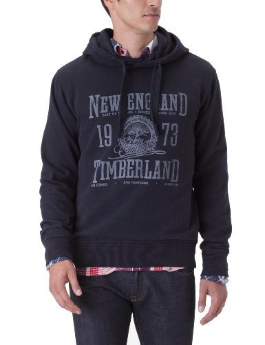 Timberland Overhead Logo Hoody Men's Sweatshirt Dark Navy Medium
