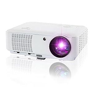 Taotaole 2600 Lumens Hd LCD LED Video Projectors Multimedia Home Projector with HDMI/USB/AV/VGA, 1280x800 Support 1080p by Taotaole