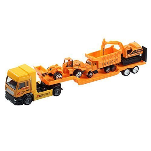 Construction Vehicle Toys For Boys : Aivtalk construction vehicle pull back transport trailer