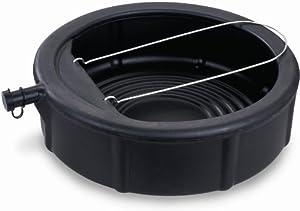 Lumax Lumax LX-1629 Black 5 Gallon Plastic Oil Drain Pan with Wire Loop Handle