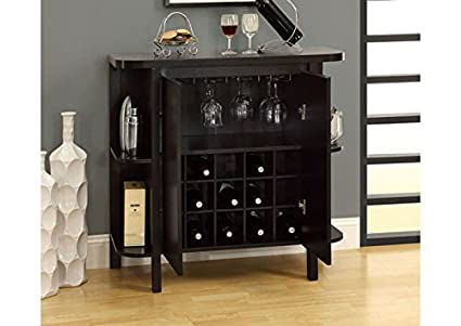 "CAPPUCCINO 36""H BAR UNIT WITH BOTTLE AND GLASS STORAGE (SIZE: 36L X 16W X 36H)"