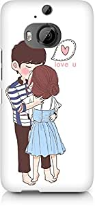Amez designer printed 3d premium high quality back case cover for HTC One M9+ (Kissing Couple)
