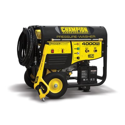 Champion Power Equipment 4000 Psi Carb - Compliant Remote Start Pressure Washer With Wheel Kit