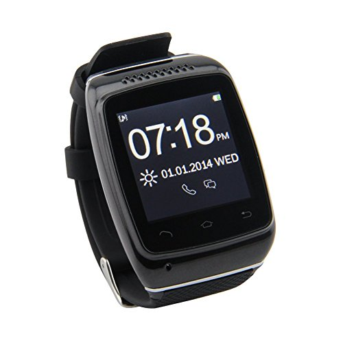 Dreamall S12 Touch Screen Bluetooth Smart Watch With Sync Call Sms Anti-Lost Pedometer Hands-Free For Android Samsung S2/S3/S4/Note 2/Note 3 Htc Sony Blackberry(Black)