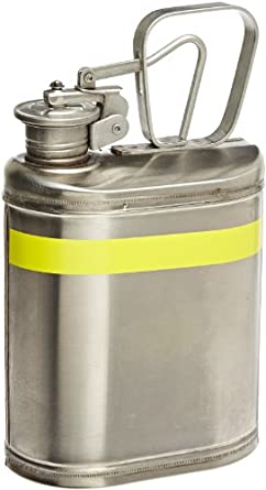 "Eagle 1301 Laboratory Safety Can, Stainless Steel, 6"" Width x 13"" Height x 8"" Depth, 1 Gallon Capacity"