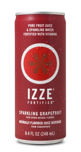 IZZE Fortified Sparkling Juice, Grapefruit, 8.4-Ounce Cans (Pack of 24)