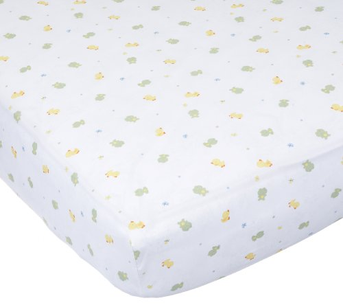 Carter'S Easy Fit Printed Crib Fitted Sheet, Frog