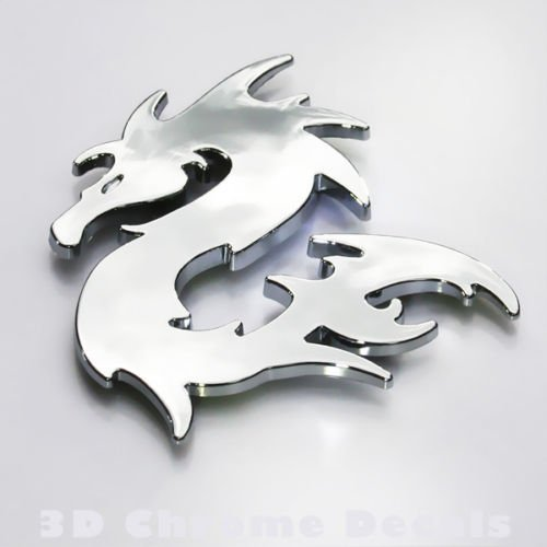 Chinese Dragon Car Auto Bike 3D chrome decal sticker badge 3D sticker (Chrome Motorcycle Badge compare prices)