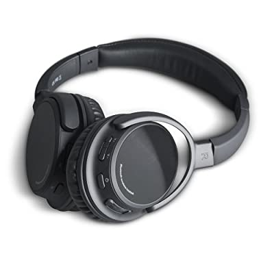 Photive BTH3 Bluetooth 4.0 Headphones with Built-in Mic and 12 Hour Battery. Includes Hard Travel Case.