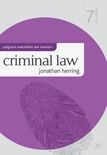 Criminal Law (Palgrave MacMillan Law Masters)
