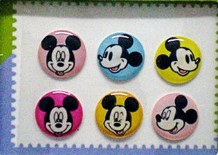 "Apple ""Home"" Button Sticker for iphone/ipad/itouch,Mickey Series1,Six Stickers"