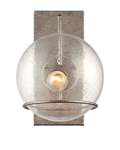 Varaluz Watson 1-Light Wall Lighting, Silver Age/Clear