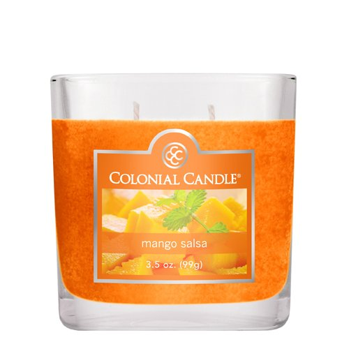 Colonial Candle 3-1/2-Ounce Scented Oval Jar Candle, Mango Salsa (Colonial Candle Mango Salsa compare prices)