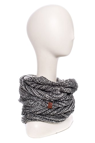 Unisex Two-Tone Infinity Scarf