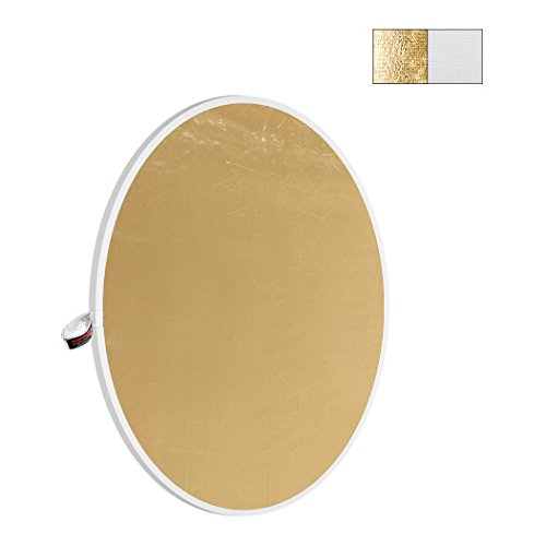 Disco reflector plegable Photoflex Litedisc de 41x74, color blanco y dorado.